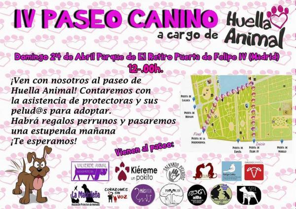 Calendario Perruno.La Madrilena Iv Paseo Canino Parque De El Retiro